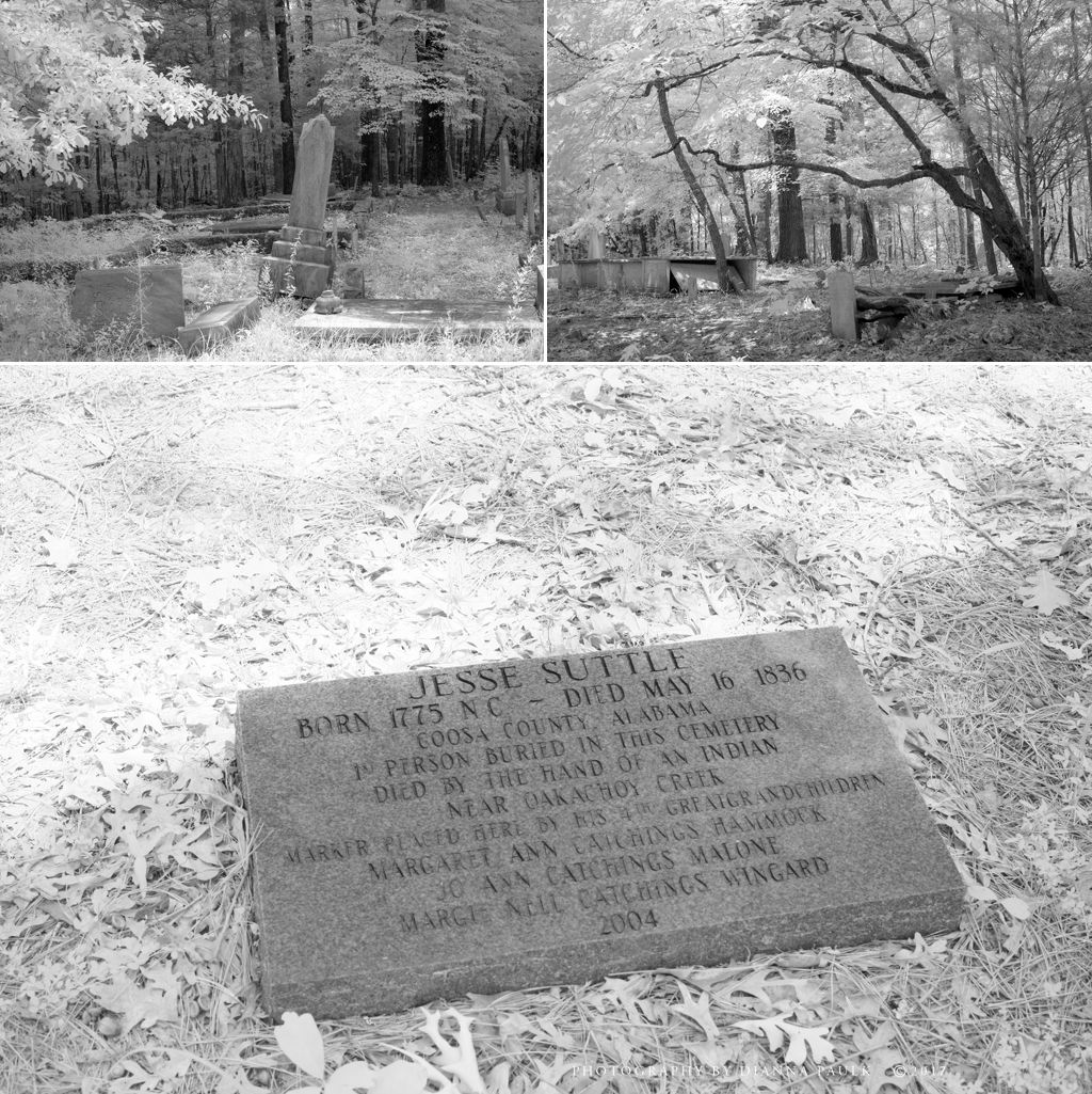 I'm guessing this is referred to as the Suttle Cemetery as the marker says Jesse Suttle was the first person buried here in 1836.