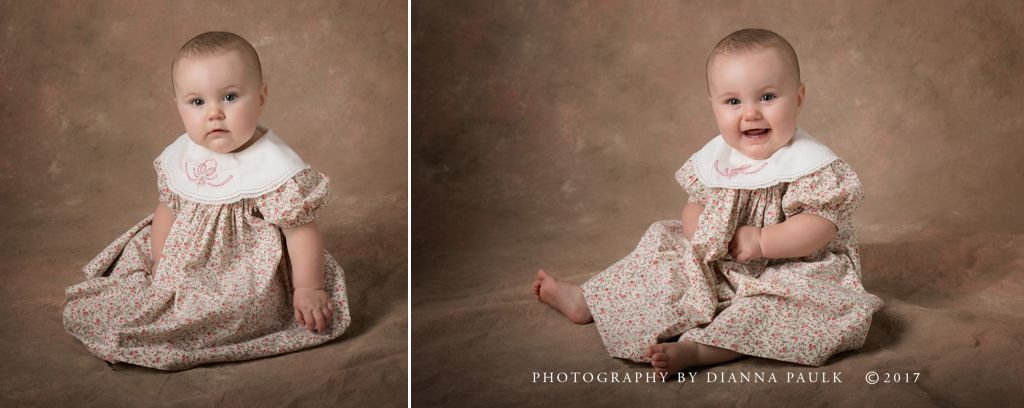9-month baby portraits; Photography by DiAnna Paulk, a certified professional photographer in Montgomery AL