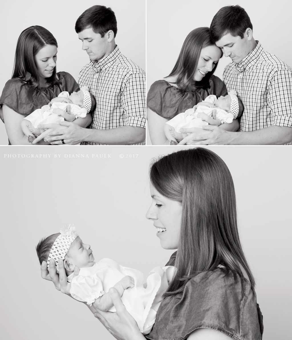 Newborn portraits; Photography by DiAnna Paulk, a certified professional photographer in Montgomery AL