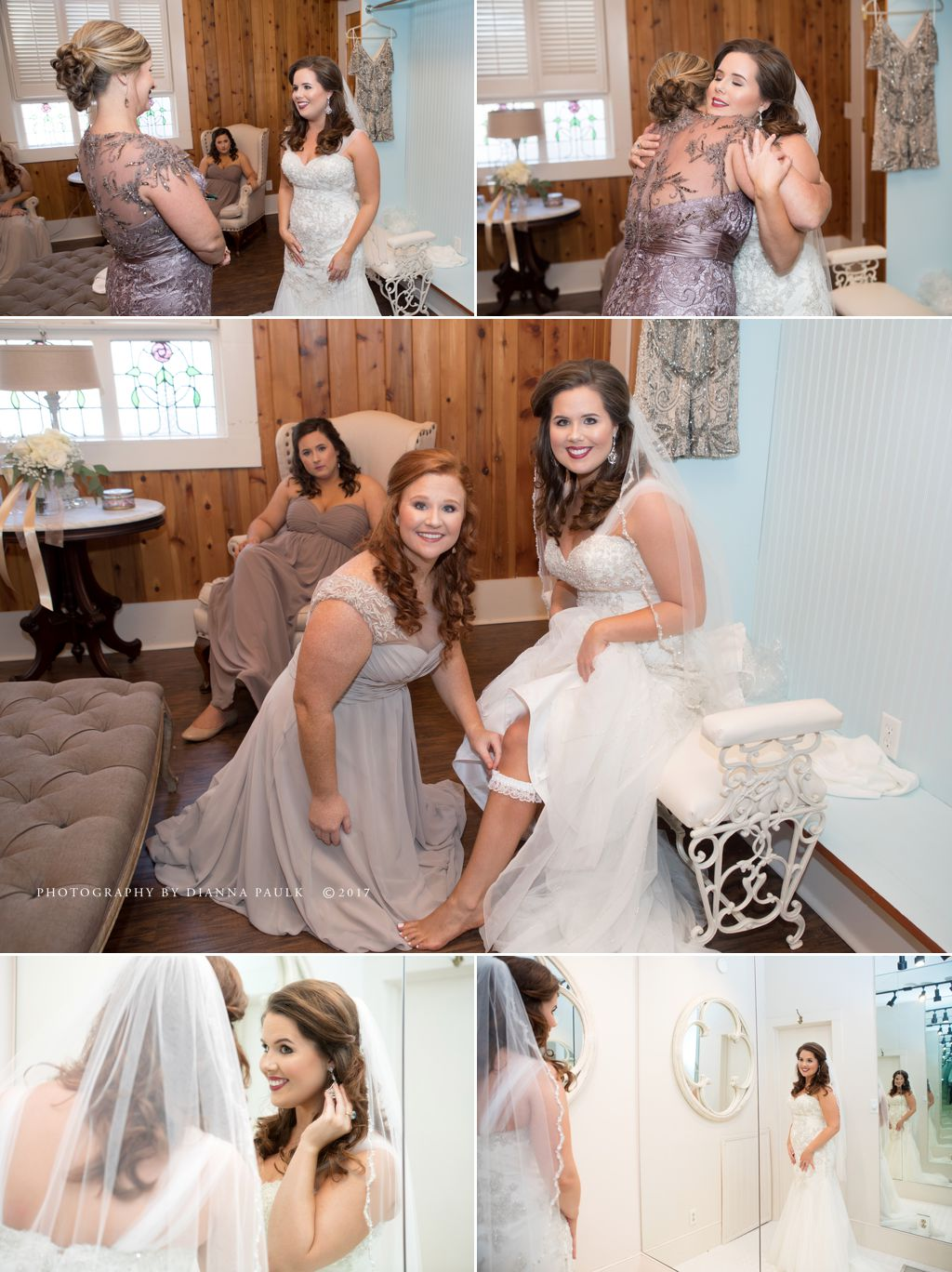 Wedding preparation at The Emporium in Troy AL; Photography by DiAnna Paulk, a certified professional photographer in Montgomery AL
