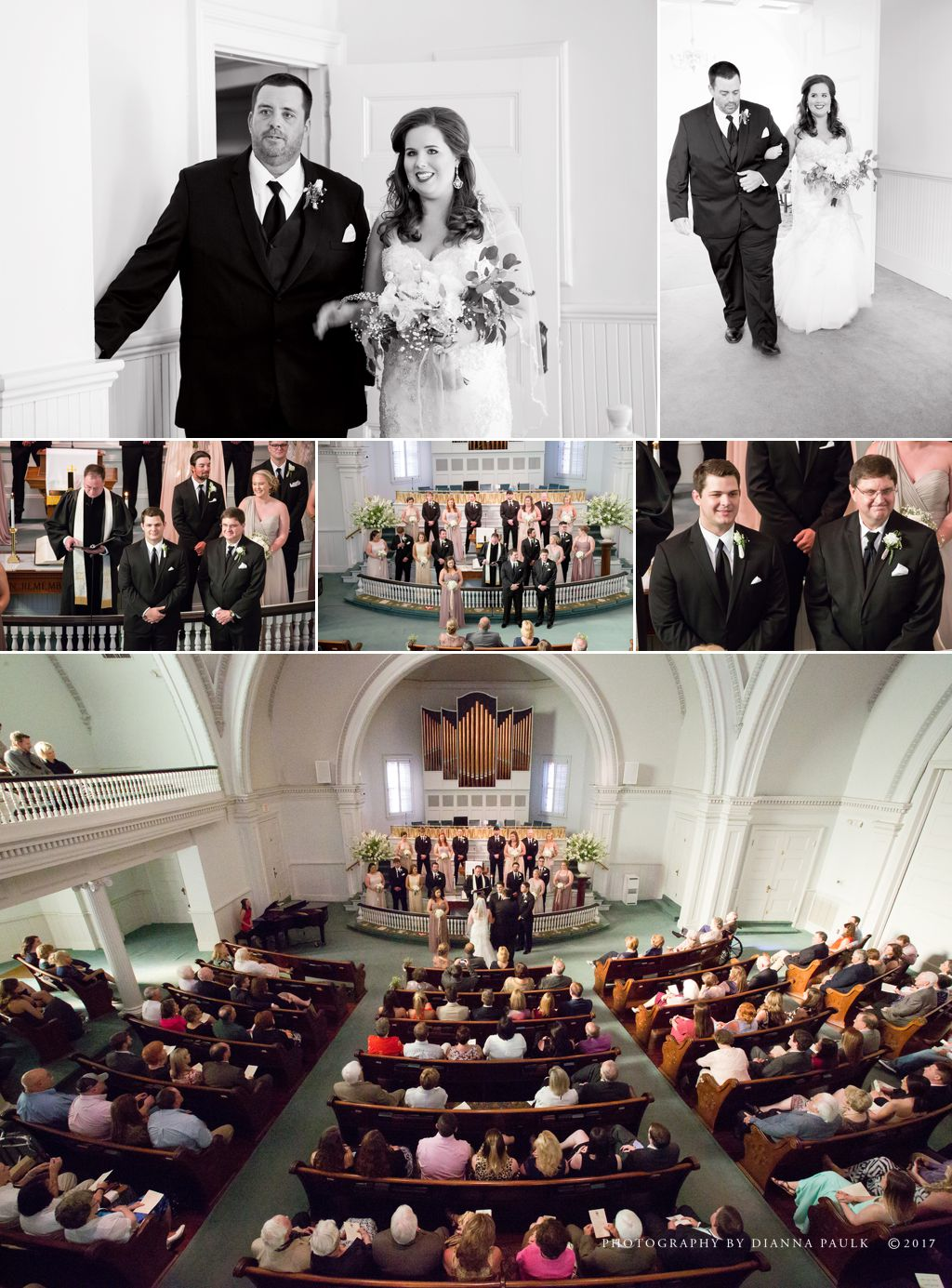 Wedding at First United Methodist Church of Troy AL; Photography by DiAnna Paulk, a certified professional photographer in Montgomery AL