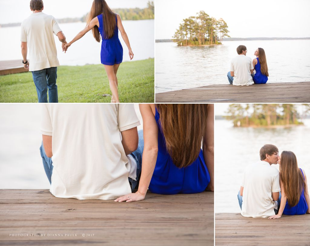 Engagement session at Children's Harbor at Lake Martin; Photography by DiAnna Paulk, a certified professional photographer in central Alabama